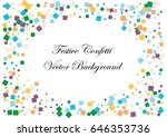 festive colorful square... | Shutterstock .eps vector #646353736