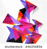 3d triangles and pyramids ... | Shutterstock .eps vector #646356856