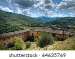 panoramic view of spoleto.... | Shutterstock . vector #64635769
