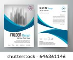 folder design flyer template... | Shutterstock .eps vector #646361146