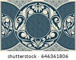 vintage decorative ornate card | Shutterstock .eps vector #646361806