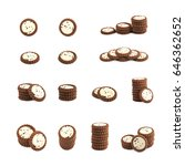 set of multiple chocolate... | Shutterstock . vector #646362652