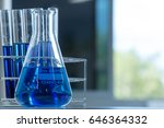 flask and test tube for... | Shutterstock . vector #646364332