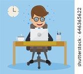 businessman in suit work with... | Shutterstock .eps vector #646365622