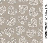 diamond heart seamless pattern | Shutterstock .eps vector #646367176
