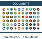 documents flat icons set.... | Shutterstock .eps vector #646368802