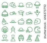 hat icons set. set of 25 hat... | Shutterstock .eps vector #646373752