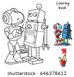 new robot with a screwdriver... | Shutterstock .eps vector #646378612