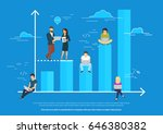 business graph growth concept... | Shutterstock .eps vector #646380382