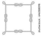 square rope frame with knots... | Shutterstock .eps vector #646388098