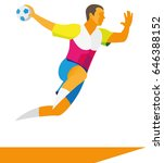 a young male athlete is a... | Shutterstock .eps vector #646388152