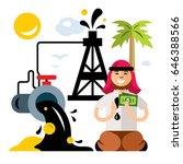 arab petroleum industry. saudi... | Shutterstock . vector #646388566
