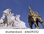 albert memorial  london with...