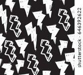 vector tags seamless pattern.... | Shutterstock .eps vector #646392622