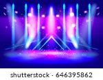 scene illumination show  bright ... | Shutterstock .eps vector #646395862