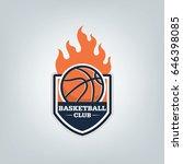 basketball sport logo template... | Shutterstock .eps vector #646398085