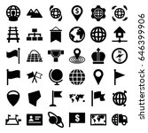 map icons set. set of 36 map... | Shutterstock .eps vector #646399906