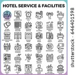 hotel service   facilities... | Shutterstock .eps vector #646401598