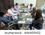 group of asian business team... | Shutterstock . vector #646405432