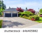 garage door in vancouver ... | Shutterstock . vector #646405882