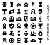 award icons set. set of 36... | Shutterstock .eps vector #646406206