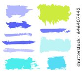 vector grunge watercolor ink... | Shutterstock .eps vector #646407442