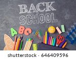 back to school background with... | Shutterstock . vector #646409596