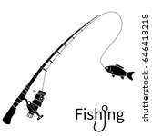 Fishing Icon Silhouette Concep...