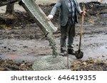 concreting  concrete mixer | Shutterstock . vector #646419355
