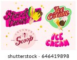 vector flat collection of ice... | Shutterstock .eps vector #646419898