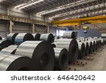 hot rolled coil lined in stock... | Shutterstock . vector #646420642