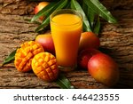 food abstract background mango... | Shutterstock . vector #646423555