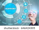 technical support. customer... | Shutterstock . vector #646424305