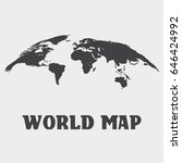 abstract world map. | Shutterstock .eps vector #646424992