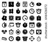 deadline icons set. set of 36... | Shutterstock .eps vector #646426072