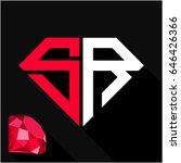 initials letter s   r in... | Shutterstock .eps vector #646426366