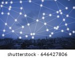 modern cityscape and wireless... | Shutterstock . vector #646427806