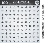 volleyball icons for web and... | Shutterstock .eps vector #646433485