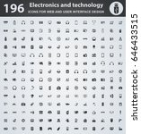 electronics web icons for user... | Shutterstock .eps vector #646433515