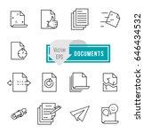 simple set of document flow...   Shutterstock .eps vector #646434532