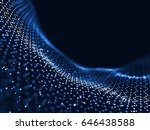 abstract futuristic dots and... | Shutterstock . vector #646438588