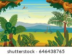vector illustration with... | Shutterstock .eps vector #646438765