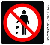 prohibition signs | Shutterstock .eps vector #646442632