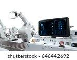 3d rendering control panel...   Shutterstock . vector #646442692