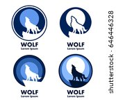 Wolf With Moon Emblems