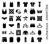 clothes icons set. set of 36... | Shutterstock .eps vector #646447366