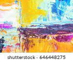 colorful  abstract oil painting ... | Shutterstock . vector #646448275