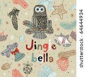 christmas card. jingle bells | Shutterstock .eps vector #64644934