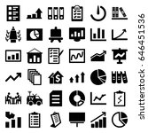 report icons set. set of 36... | Shutterstock .eps vector #646451536