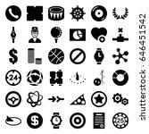 circle icons set. set of 36... | Shutterstock .eps vector #646451542